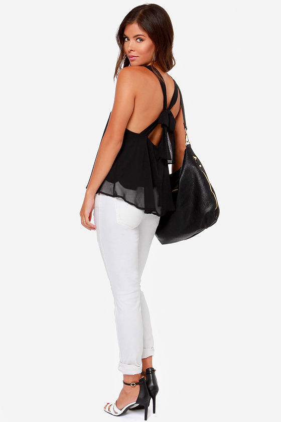 LULUS Exclusive Out All Night Black Tank Top at Lulus.com!