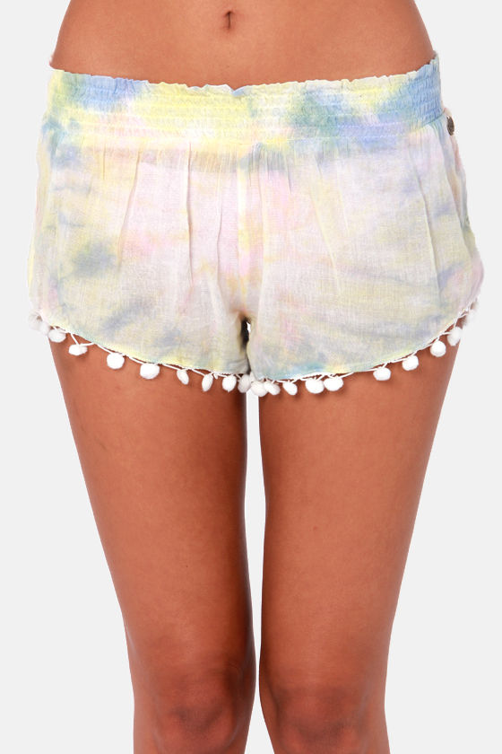 Billabong Sea You Soon Tie-Dye Shorts at Lulus.com!