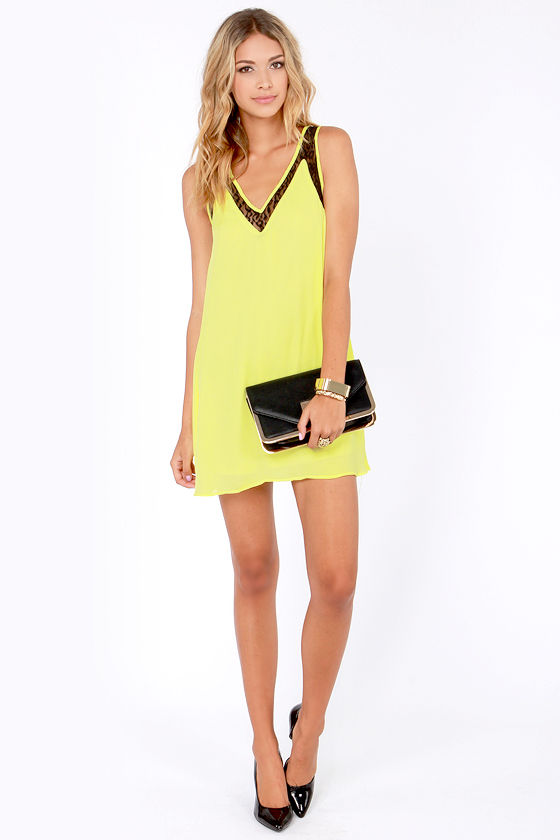 Zest In Show Black and Yellow Dress at Lulus.com!