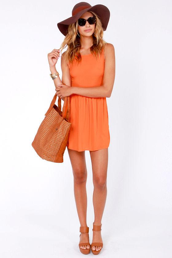 Mimi Chica Isn't She Sweet Orange Dress at Lulus.com!
