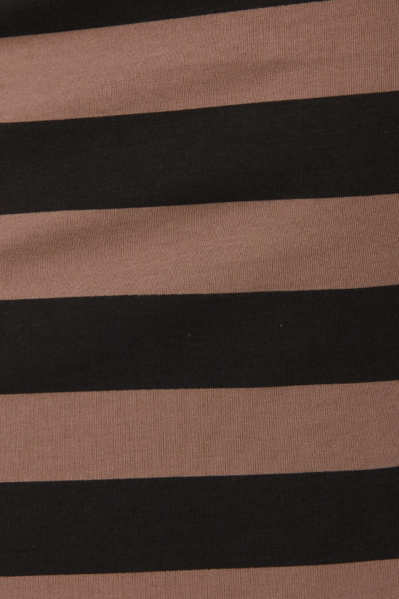 Billabong Glass Petals Black and Brown Striped Maxi Skirt at Lulus.com!