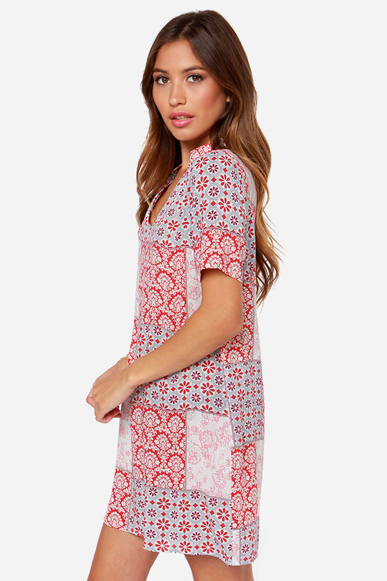 White Crow Cheyenne Red Print Dress at Lulus.com!
