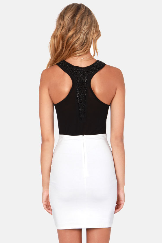 Others Follow Ice Drops Beaded Black Tank Top at Lulus.com!