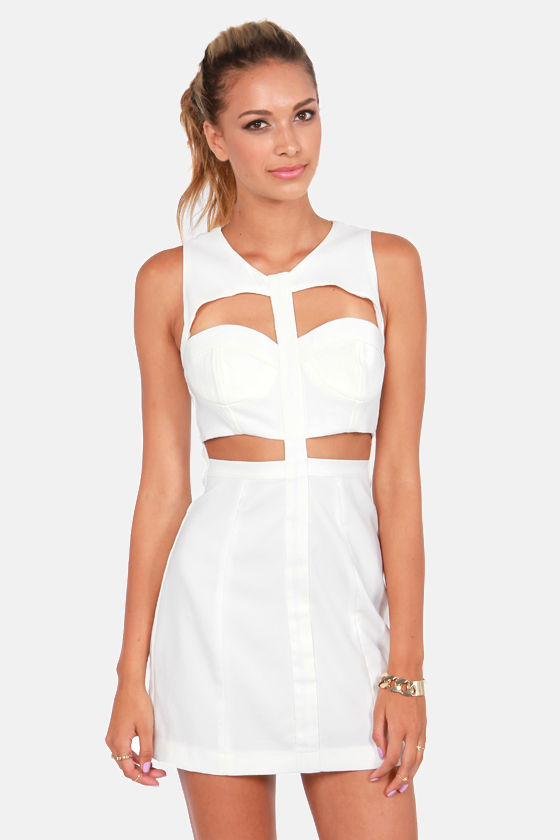 Show the Way Cutout Ivory Dress at Lulus.com!