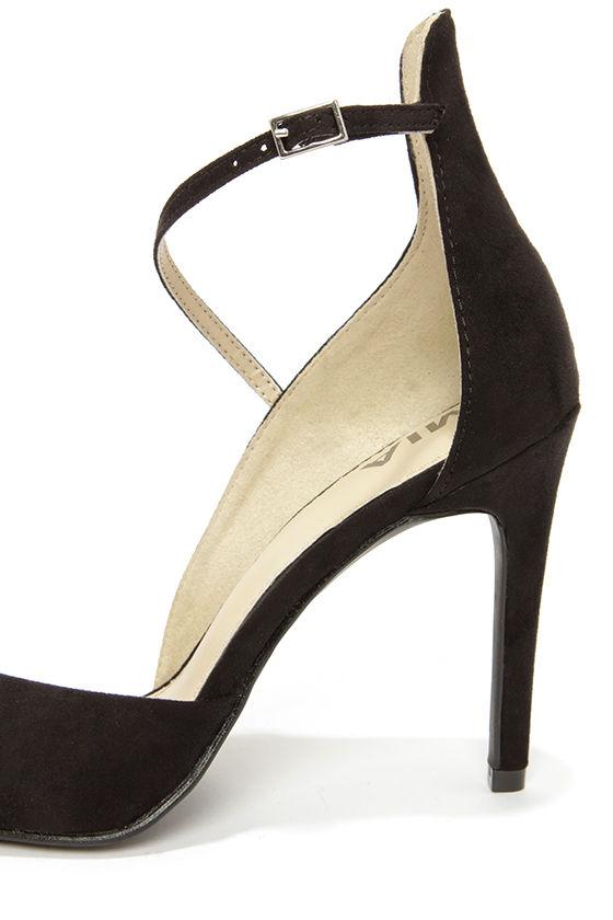 Mia Mona Black Suede D'Orsay Heels at Lulus.com!