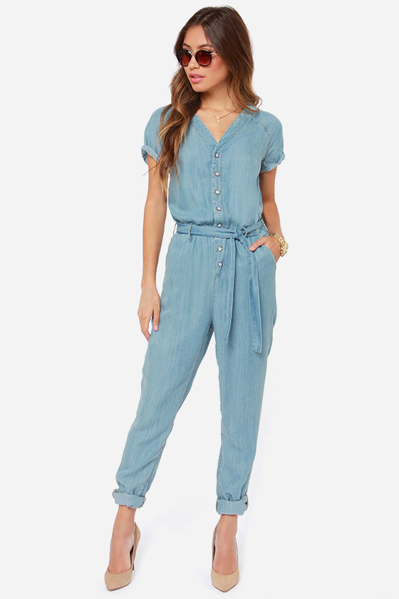d03f385729ad3 Dittos Sela Jumpsuit - Denim Jumpsuit - Blue Jumpsuit -  129.00