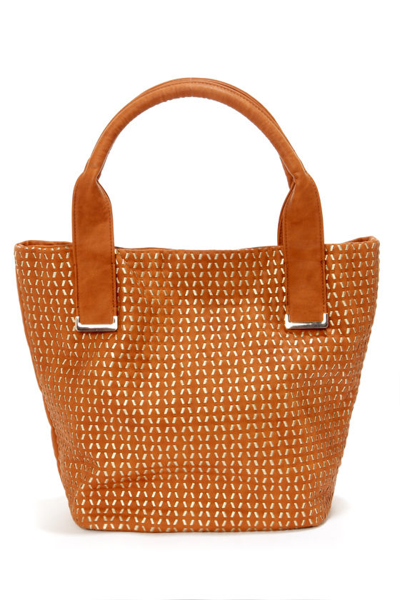Big Buddha Bentley Brown and Gold Tote at Lulus.com!