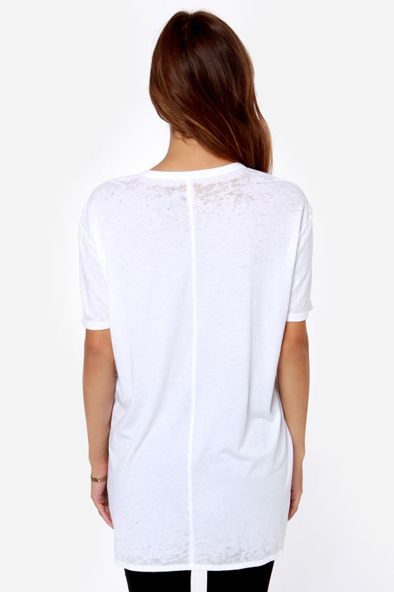 Chaser Music Oversized White Tee at Lulus.com!