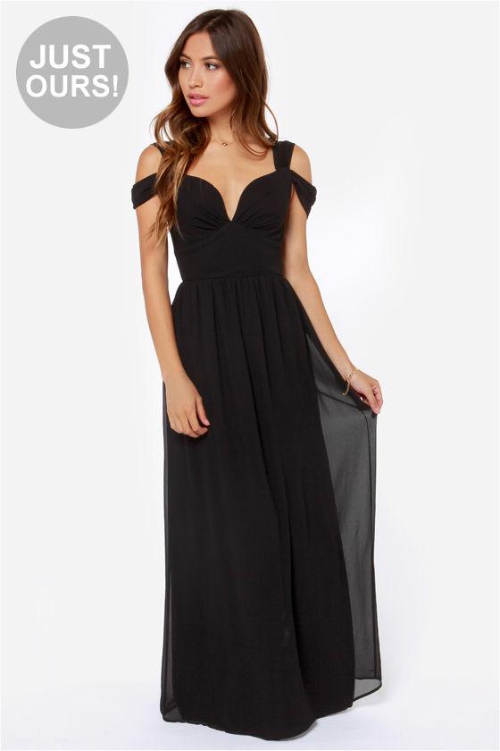 Elegant Black Dress - Maxi Dress - Prom Dress - Bridesmaid Dress ...
