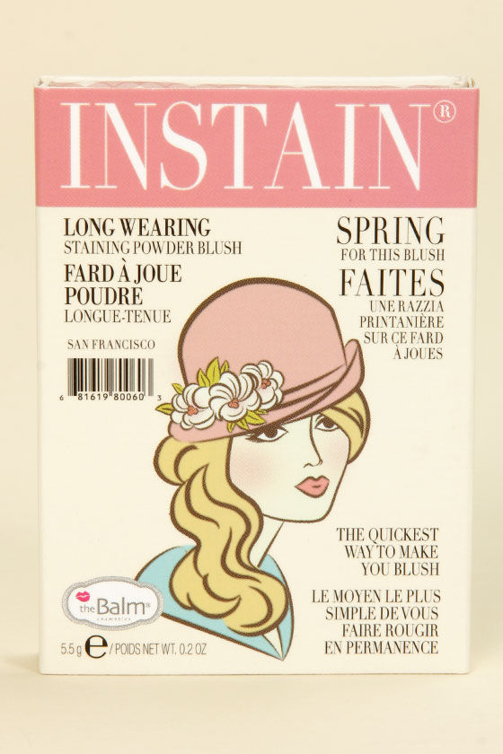 The Balm Instain Argyle Petal Pink Powder Blush at Lulus.com!