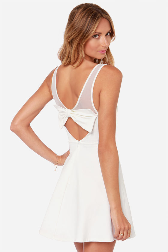 Bow White Dress