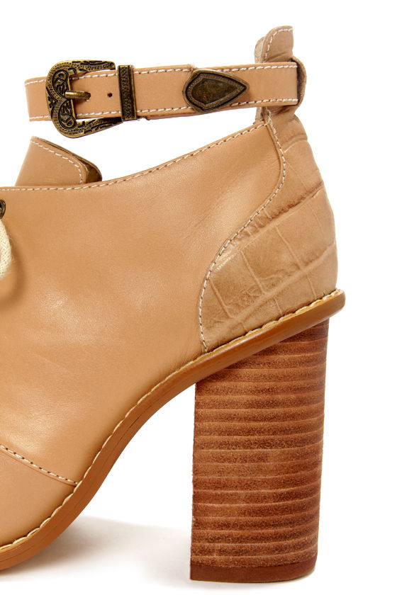 Kelsi Dagger Bina Natural Peep Toe Booties at Lulus.com!