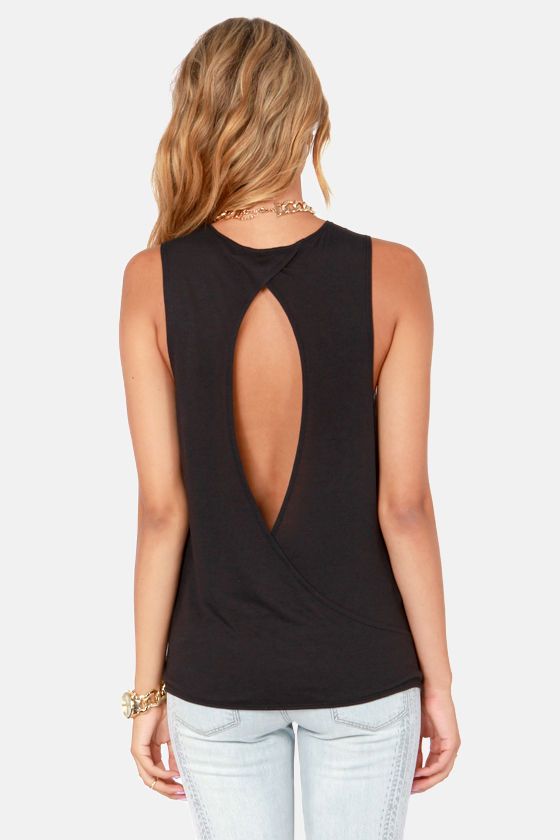 RVCA Heartache Black Muscle Tee at Lulus.com!