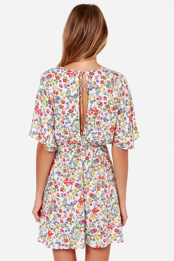 LULUS Exclusive Turn Over a New Leaf Ivory Print Dress at Lulus.com!