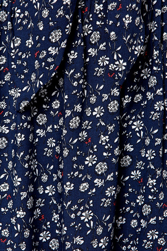 LULUS Exclusive Floral Flounce Navy Blue Floral Print Dress at Lulus.com!
