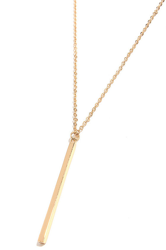 LULUS Exclusive Monolith Gold Pendant Necklace at Lulus.com!