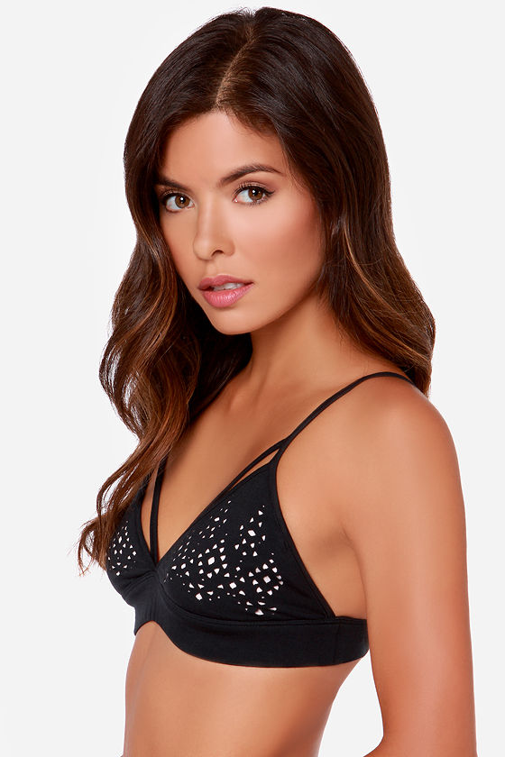 Volcom Beachnik Black Bralette at Lulus.com!