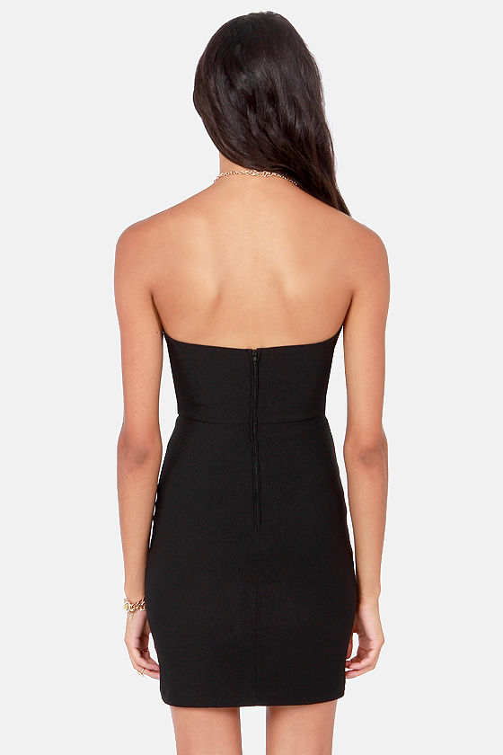 Sweetly Tempting Strapless Black Dress at Lulus.com!