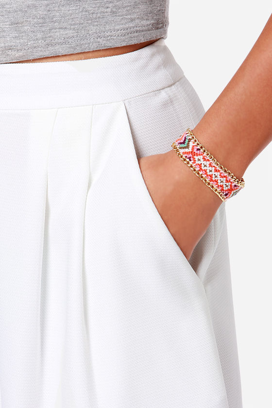 Friends Forever Gold and Pink Woven Friendship Bracelet at Lulus.com!