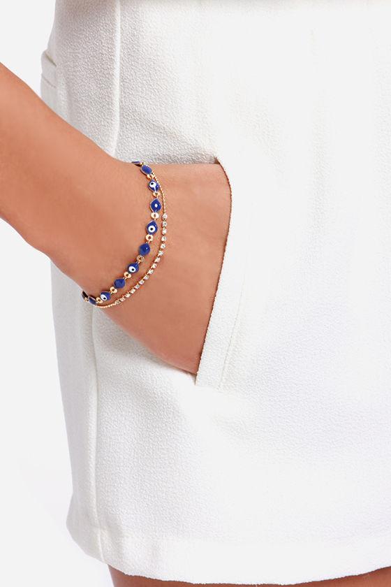 Eye Love You Blue Bracelet at Lulus.com!