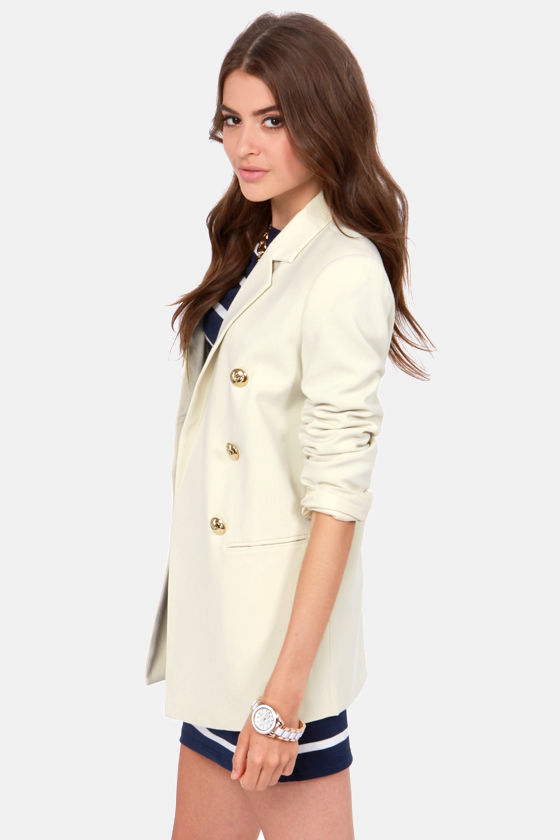 Blaque Label Prep Up Cream Blazer at Lulus.com!