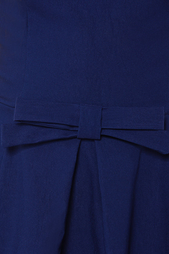 LULUS Exclusive Hot Off the Precious Navy Blue Dress at Lulus.com!