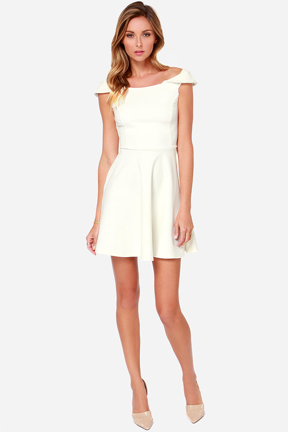 Refined Dining Ivory Dress at Lulus.com!