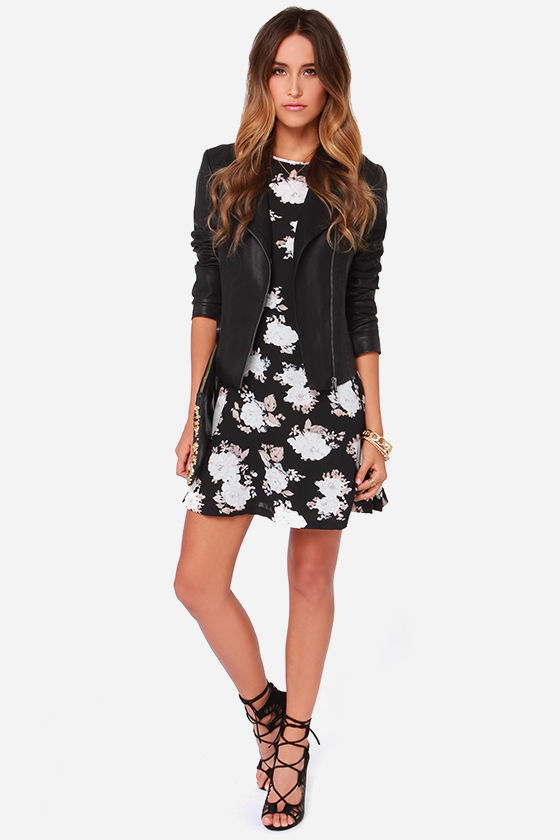 BB Dakota Reena Black Floral Print Dress at Lulus.com!