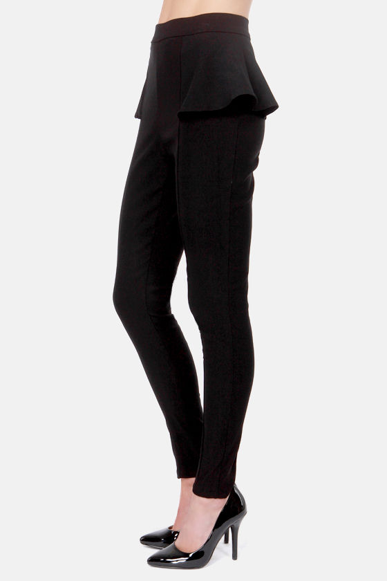There's a Pep In Your Step Black Peplum Pants at Lulus.com!