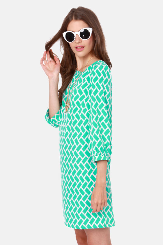 Sea What Blew In Sea Green Shift Dress at Lulus.com!