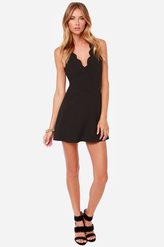 LULUS Exclusive Pacific Trim Black Dress at Lulus.com!