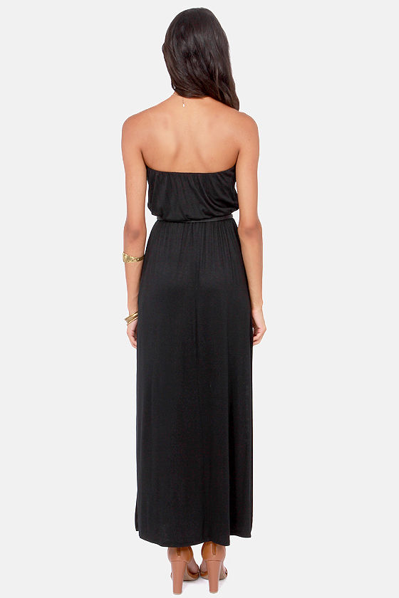 Double Dutch Strapless Black Maxi Dress at Lulus.com!