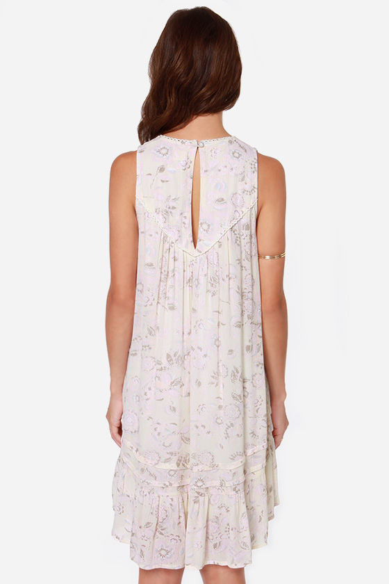 O'Neill Mayday Pale Yellow Floral Print Dress at Lulus.com!