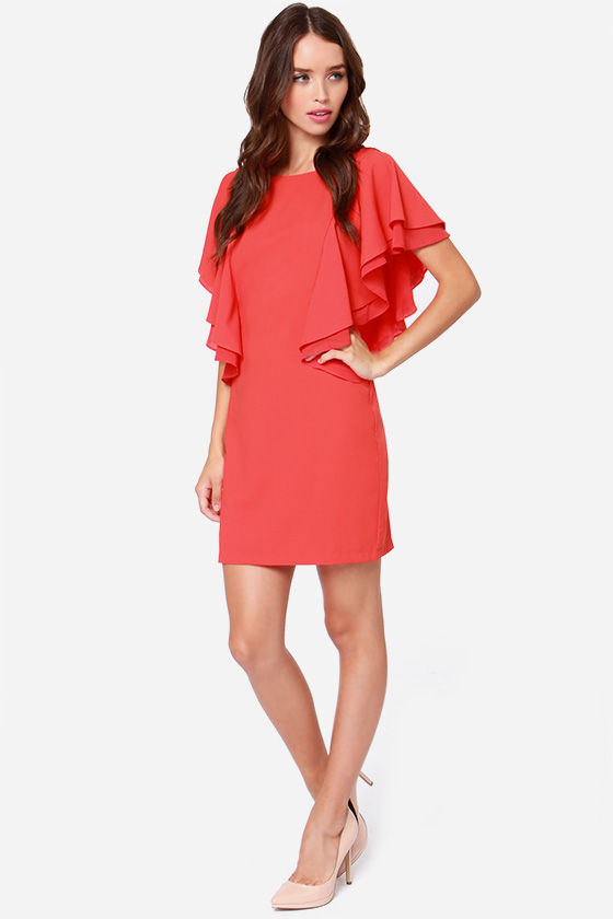 Sweet Samba Coral Red Dress at Lulus.com!
