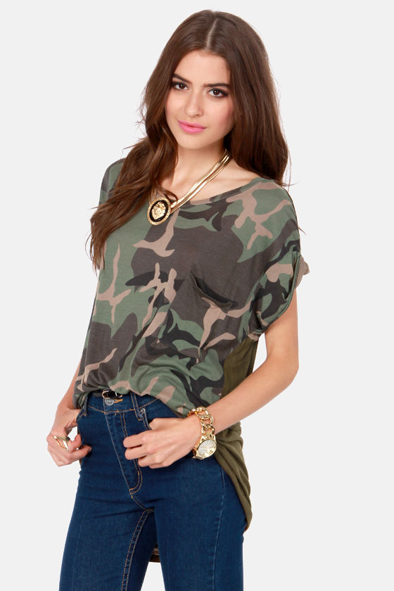 Others Follow G.I. Jane Camo Print Tee at Lulus.com!