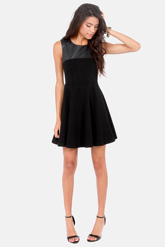 Ace of Spades Black Skater Dress at Lulus.com!
