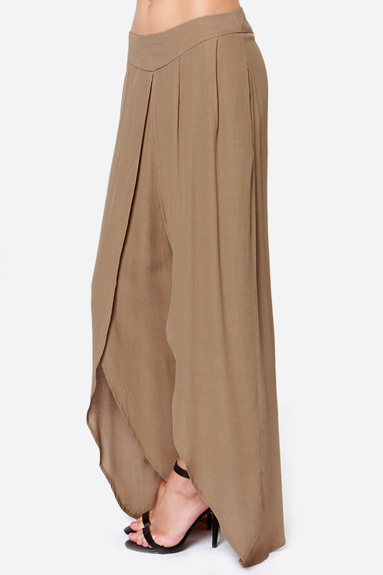 Come Sail Away Brown Pants at Lulus.com!
