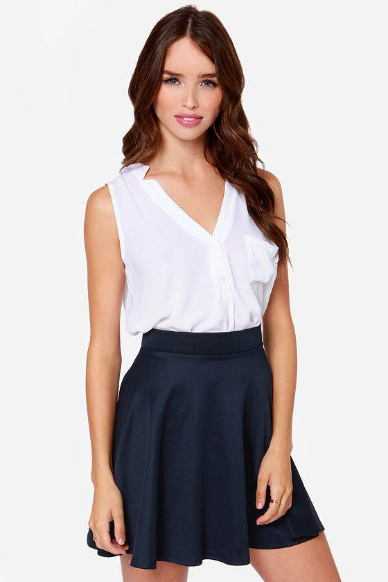 Smooth Runnings Navy Blue Skirt at Lulus.com!