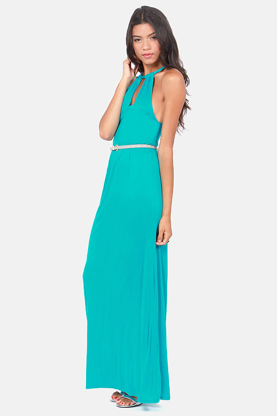 Costa Blanca Delicately Poised Turquoise Maxi Dress at Lulus.com!
