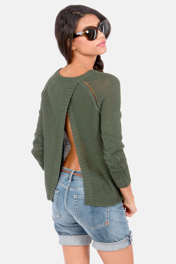 BB Dakota Ian Army Green Sweater at Lulus.com!