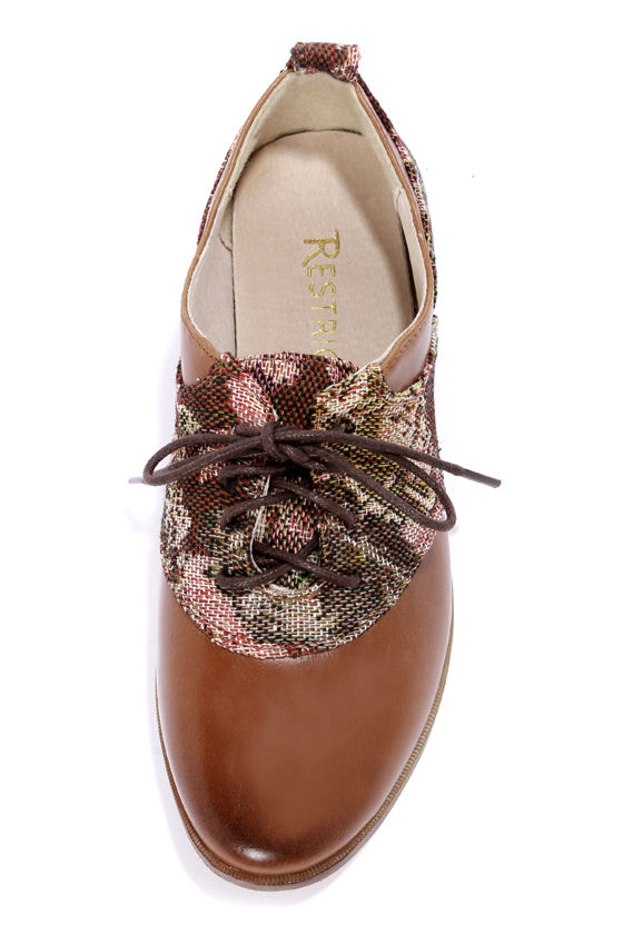 Restricted Blackout Whiskey Tapestry Oxford Flats at Lulus.com!