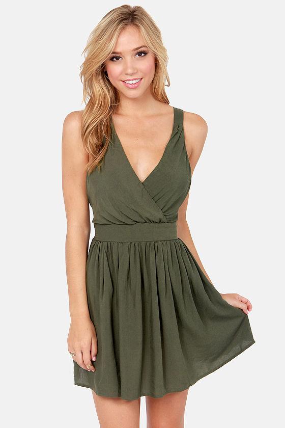 Sexy Green Dress - Short Dress - Backless Dress - $40.00