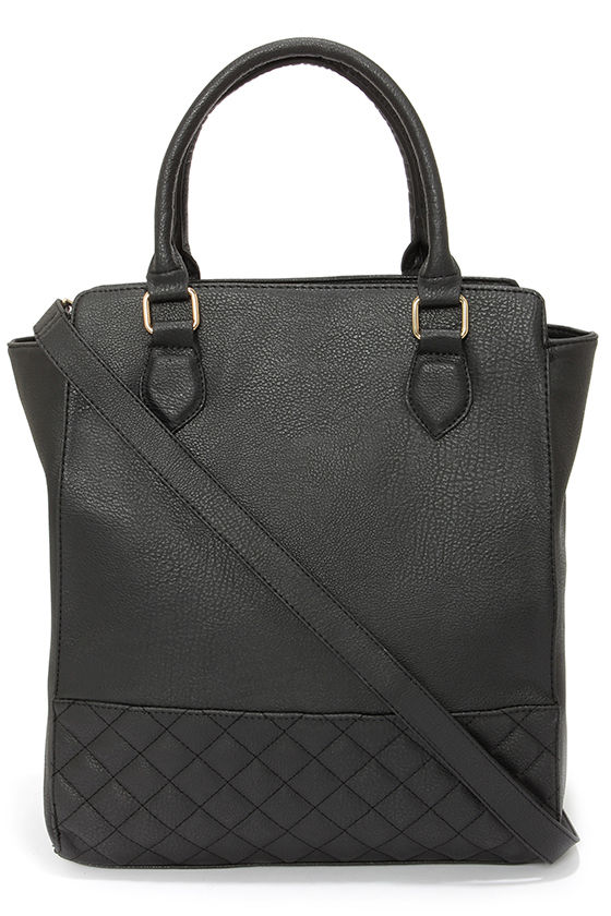 Quilt While You're Ahead Black Tote at Lulus.com!