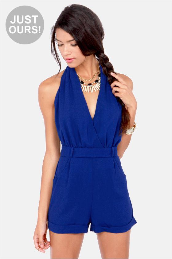 Original Royal Blue Jumpsuit - Just U00a35