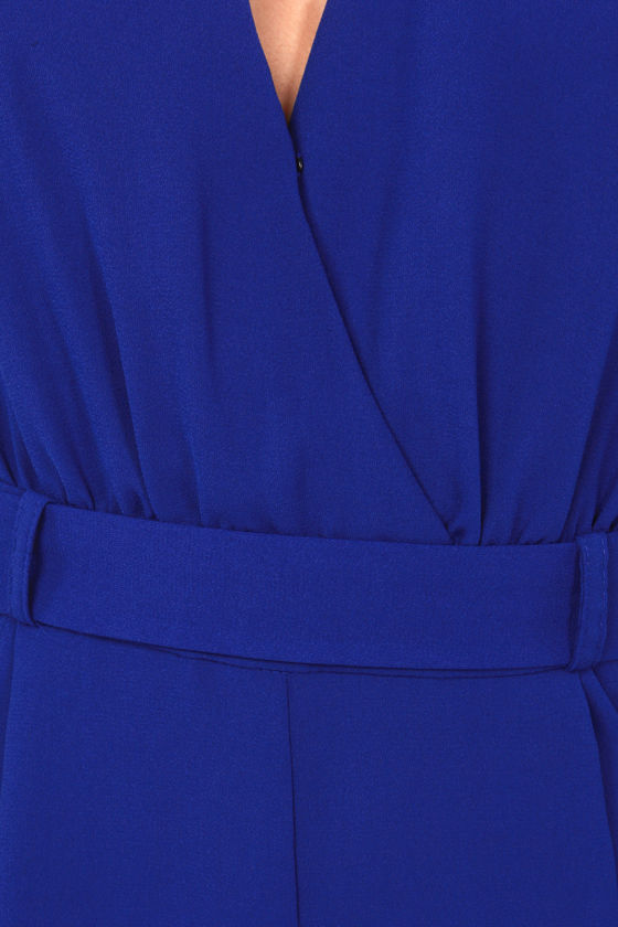 LULUS Exclusive Halt Who Goes There? Royal Blue Romper at Lulus.com!