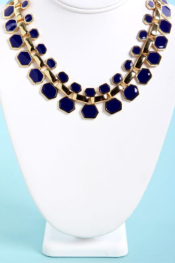 Collar Me Crazy Blue Necklace at Lulus.com!