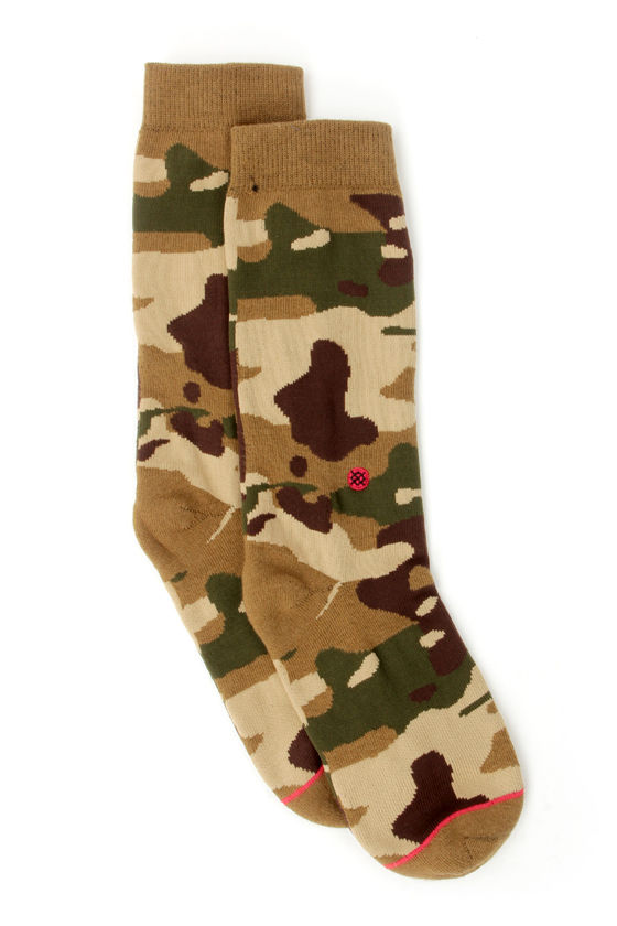 Stance Private Camo Print Socks at Lulus.com!