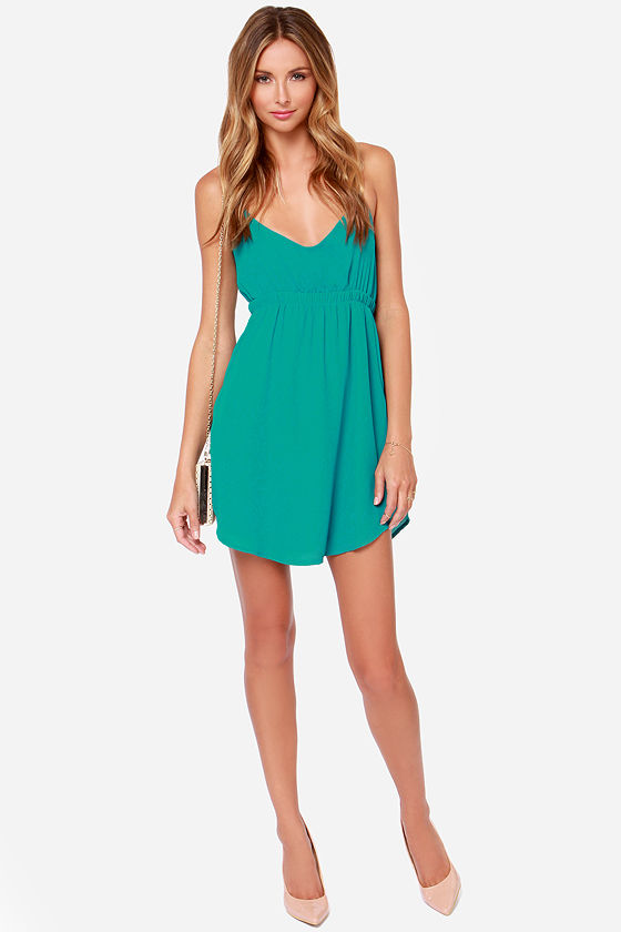 Lucy Love Crazy For You Teal Dress at Lulus.com!