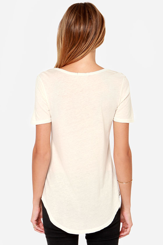 Obey Patti Cream Scoop Neck Tee at Lulus.com!