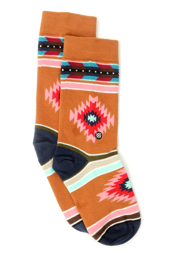 Stance Shooting Arrow Southwest Print Socks at Lulus.com!